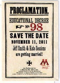 OH MY FRICKEN HARRY POTTER. these WILL be my save the dates when I get married!!!!