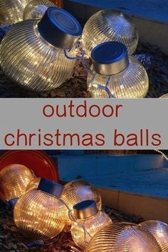 Learn how to DIY christmas balls/ornaments for the outdoors. #christmasideas #christmasdecor