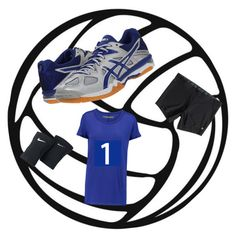 Volleyball game day by robe8183-1 on Polyvore featuring polyvore, interior, interiors, interior design, casa, home decor, interior decorating, NIKE, Enza Costa, Roxy and Asics