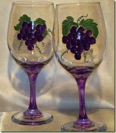 Painted Wine Glasses Ideas   Just Paint It: Custom Painted Wineglasses GiveAway!