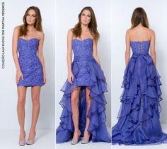 vestido longo que fica curto para formatura - Pesquisa Google
