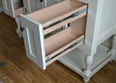 """How to build a pull-out drawer for cabinets"" - DIY tutorial from Ana White"