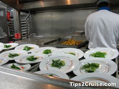 Carnival Inspiration Cruise Ship Kitchen. View more articles, tips and videos at http://tips2cruise.com/