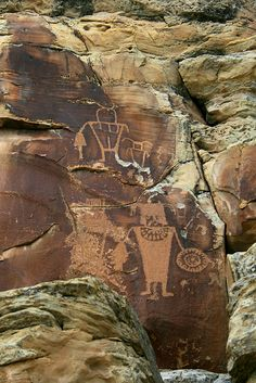 'Mixed Figures' - photo by Robert Pahre, via Flickr;  McKee Rock Art at Dinosaur National Monument in Uintah County, Utah