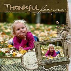 Thankful Layout - by Jennifer Gibson