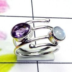 Rainbow Gemstone Ring, Mix Cut Gemstone Ring, Women Jewelry, 925 Sterling Silver Ring #RainbowMoonstone #Rainbowmoonstonejewelry
