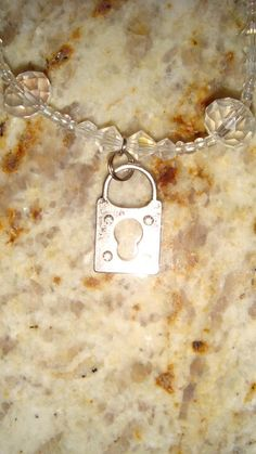 Very Sparkly Lock & Keyhole Anklet