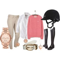 Pink and Pikeurs by rider-chic on Polyvore featuring Jack Wills, MICHAEL Michael Kors, BaubleBar, Tiffany & Co. and Kiomi