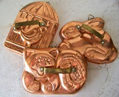 copper vintage cookie cutter