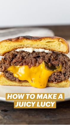 Grilled Burger Recipes, Gourmet Burgers, Beef Burgers, Grilling Recipes, Stuffed Burger Recipes, Juicy Burger Recipe, Hamburger Recipes, Ground Beef Recipes, Meat Recipes