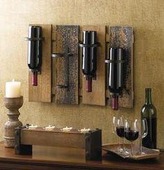 Rustic Wine Wall Rack