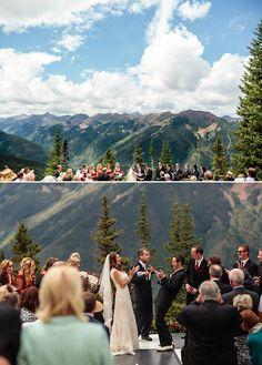 atop aspen mountain colorado wedding httphoteljeromeaubergeresorts