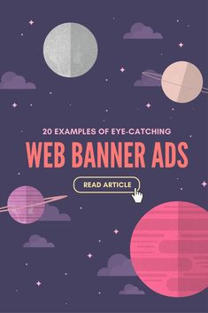 Here's how to get a jump on your average click-through rate by designing an effective web banner ad Web Design Tips, Web Design Company, Ad Design, Graphic Design, Banner Design Inspiration, Web Banner Design, Web Banners, Party Banners, Youtube Banner
