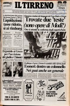 25 luglio 1984 Old Newspaper, Cthulhu, Cover Pages, Tuscany, Retro Vintage, Nostalgia, The Past, Politics, The Incredibles