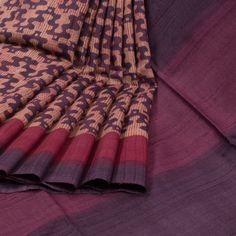 Sujata Purple Ombre Printed Tussar Silk Saree 10008006 - profile - AVISHYA.COM