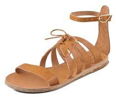 Ancient Greek Sandals Iphigenia Flat Sandals on shopstyle.com