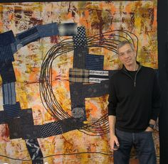 Joe Cunningham - Pattern-free quilting. He improvises as he works. Turns out some interesting stuff.