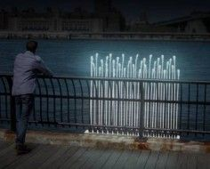 Wonderful concept - Water-Powered Reeds Lights Illuminate Urban Waterfronts