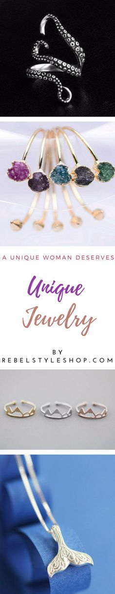 Take a look to to this beautiful and unique jewelry picked just for you!  unique jewelry unusual jewellery  beautiful jewelry cute rings
