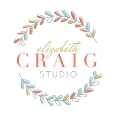 Premade Photography Logo and Watermark Design - Photography or Boutique Logo - Whimsical Laurel Logo - Business Branding by TheAutumnRabbit on Etsy https://www.etsy.com/listing/234960001/premade-photography-logo-and-watermark