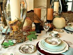 Friendly Village for Fall tablescape
