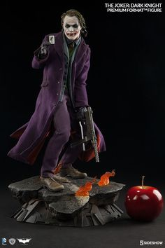 Let's put a smile on that face! Sideshow presents the Joker Premium Format Figure from The Dark Knight | Sideshow Collectibles