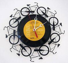 LP Record Bicycle Wall Clock   eBay