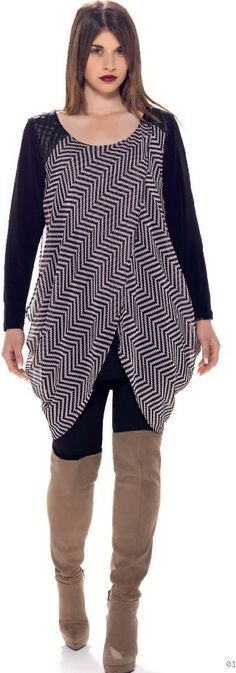 Fall-Winter 2014-2015 Plus Size StyleBook (25)  Edgy Top with High Boots. Curvy Fashion.