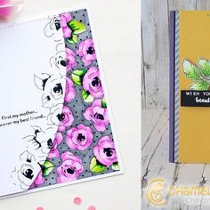 We're back with another Friend Friday with @altenewllc !! On our blog today we have Ekaterina @dol4i and Monica to show you how they created their stunning cards!! Head on over to our blog to download their free step-by-step instructions on how to create today's cards AND to find out how you could win a 5 pack of Chameleon Pens.  We love today's inspiring creations! Comment below what Ekaterina and Monica's cards have inspired you to create :D #chameleonpens #altenew #blog #card #cardmaking ... Mother Card, Chameleon Color, Alcohol Markers, Altenew, Step By Step Instructions, Thank You Cards, How To Find Out, Card Making, Greeting Cards