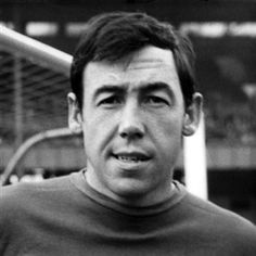 The great Gordon Banks. Goalkeeper. Born in Sheffield. He played principally for Leicester City and Stoke City. A member of the winning England team in the 1966 World Cup. He lost an eye in a car crash in 1972 which terminated his professional career.