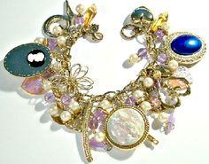 Repurposed Vintage Earring Charm Bracelet