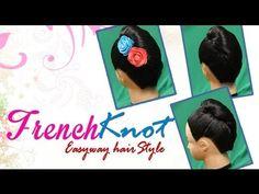 French Knot Easy Way Hair Style  http://www.youtube.com/watch?v=AoSLjEWyrnM