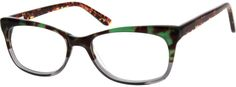 Order online, women green full rim acetate/plastic wayfarer eyeglass frames model #184224. Visit Zenni Optical today to browse our collection of glasses and sunglasses.