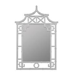 Oriental Inspired Mirror Available in 5 Colors: Black, Blue, Mahogany, Red…