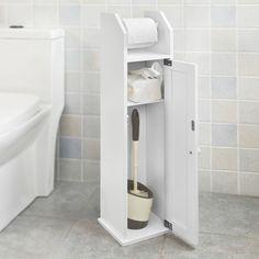 SoBuy® Freistehend weiß Toilettenrollenhalter, Papier Halter, Badregal,FRG135-W