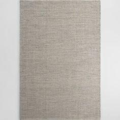 Gray Metallic Woven Jute Alden Area Rug - 6' x 9' by World Market
