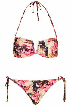 3908d0c43275d TOPSHOP Peonie Floral Bandeau Bikini Set  52...I NEED THIS. Topshop Bikini