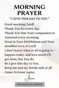 Powerful Morning Prayer, Morning Prayer Quotes, Good Morning Prayer, Morning Prayers, Prayer Scriptures, Bible Prayers, Faith Prayer, Bible Verses Quotes, Good Prayers