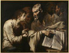Maître de l'Annonce aux Bergers, (XVIIe siècle), Jésus parmi les docteurs, Huile sur toile, 97.5x127.5 cm | Nantes, musée des Beaux-Arts