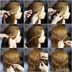 Pull through fishtail Braid ❤️ Check out the steps below :- 1. Divide into 2 equal section 2. Take a small section from the outside of the left section 3. Cross it over to the right section 4. Take a small section from the outside of the right & cross it over to the left section 5. Repeat step 2 to 4 and keep braiding until desired length 6. Repeat step 1 to 5 to another section and tie up both braids together with elastic band 7. Take a small section and surround the elastic then secure…