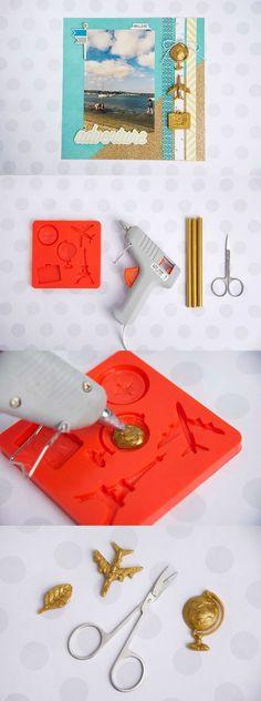 Scrapbook embellishments with Mod Melts