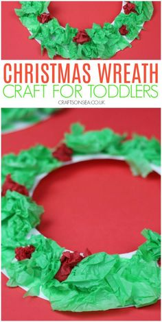 Art therapy activities for toddlers christmas wreath craft for toddlers preschoolers Christmas Activities For Toddlers, Preschool Christmas Crafts, Christmas Art Projects, Daycare Crafts, Winter Crafts For Kids, Toddler Crafts, Kids Christmas, Holiday Crafts, Christmas Wreaths