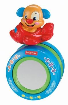 Fisher-Price Laugh and Learn Puppy's Crawl-Along Ball by Fisher-Price. $14.99. From the Manufacturer                The Laugh and Learn Puppy's Crawl-Along Ball is an all new way for baby to play with Puppy that encourages physical development while teaching letters, opposites, greetings, first words and more. With three ways to play, Puppy's Crawl-Along Ball has activities and learning fun for multiple stages in baby's development: tummy-time, sitting, and craw...