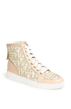 MICHAEL Michael Kors 'Keaton' Studded High Top Sneaker available at #Nordstrom