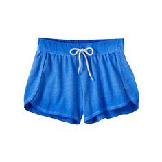 Girls 7-16 & Plus Size SO® Wash Effect Shortie Shorts, Size: 7-8, Dark Blue