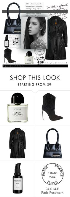 """""""Do you love me? #11"""" by alongcametwiggy ❤ liked on Polyvore featuring Byredo, Yves Saint Laurent, Calvin Klein 205W39NYC, Jacquemus, Root Science and WALL"""