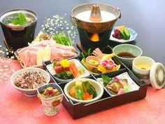 The lunch at Japanese onsen(spa) ryokan(hotel).