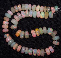 """27 Ct Flashy Premium Ethiopian Welo Opal Roundelle (56) Beads 5 to 6 MM AAA 6 """""""