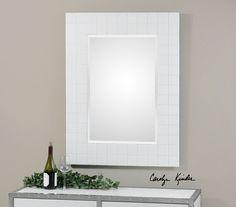 Brooks White Mosaic Mirror