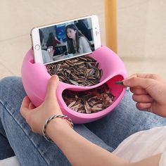 Seeds Nut Bowl Table Candy Plate Snacks Storage Mobile Phone Garbage Holder Dish